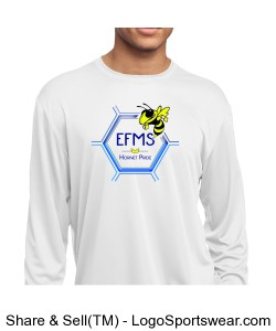 Sport-Tek Youth Long Sleeve Competitor Tee Design Zoom