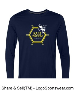 Navy Long Sleeve Design Zoom